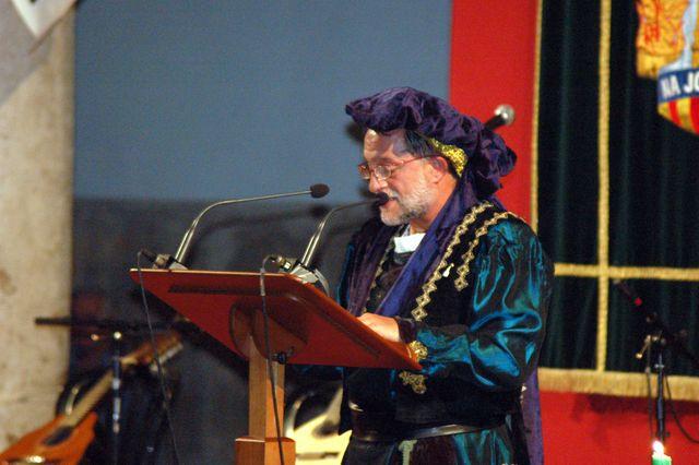 Pere Borrego llegint el Tirant