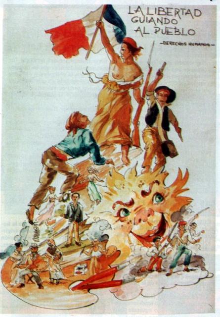 1989- Boceto Falla Cas de Valencia en Paris Con Motivo del 200 aniversario de ra toma de la Bastilla   Se planto al lado del Banco de Valencia