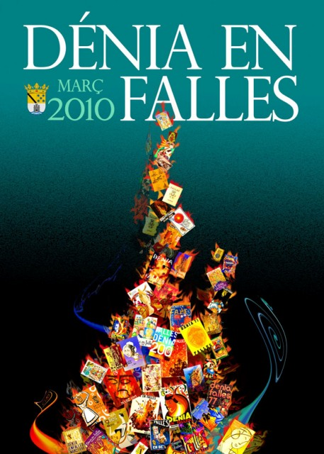 Cartel Fallas Denia 2010.
