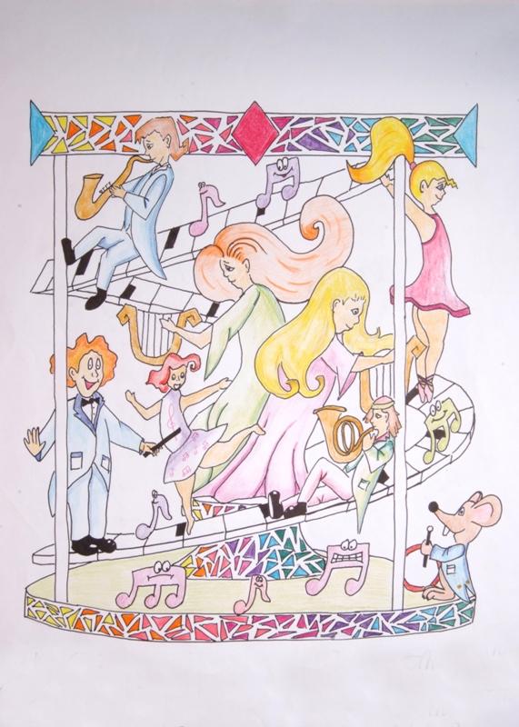 falla gran via de l'est boceto falla infantil 2011