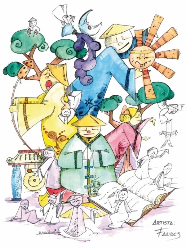 077 Boceto Infantil - Grandes inventos de la antigua China - Lorenzo Fandos Ayoro