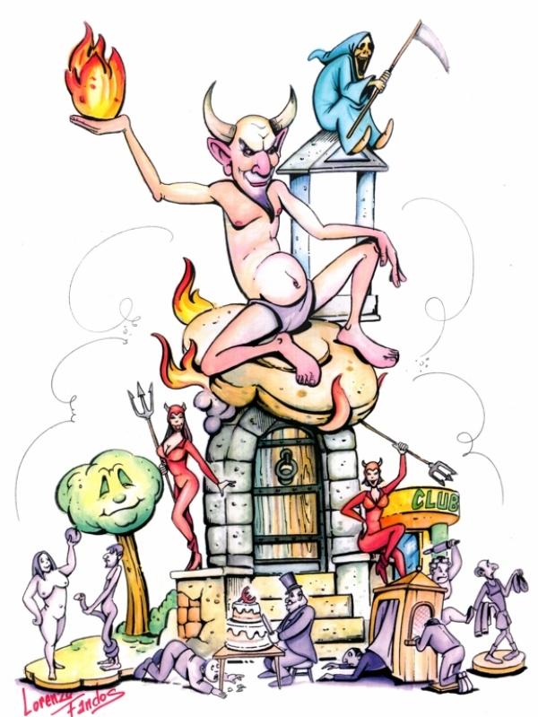 077 Boceto Mayor - El bien y el mal -Lorenzo Fandos Ayoro