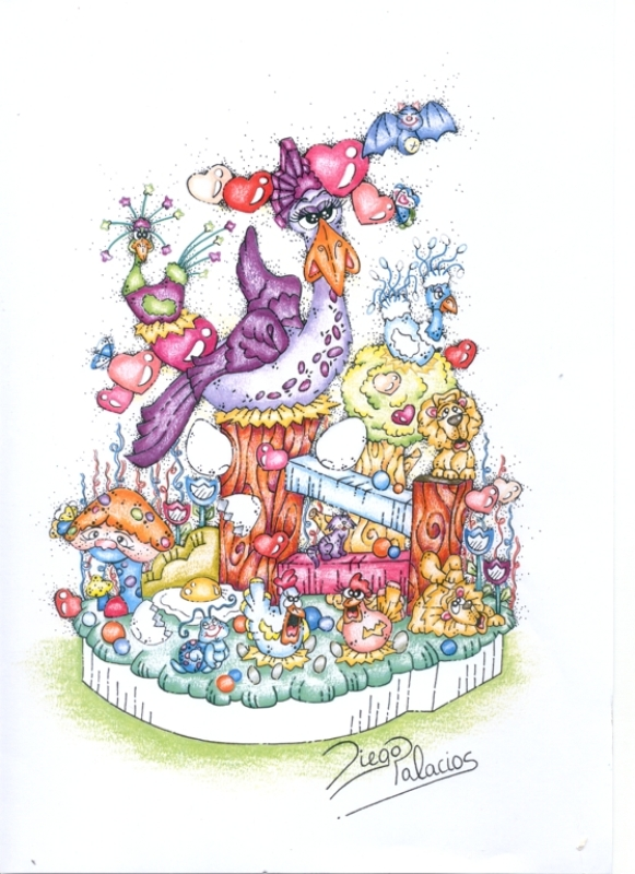 113 Boceto infantil - Naturaleza encantada - Diego Palacio Perez