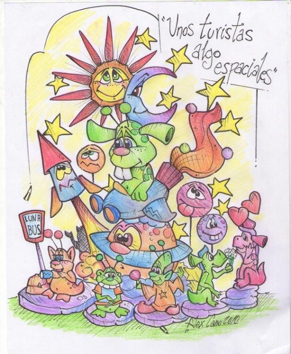256 - Boceto infantil - Alex Cano - Unos turistas algo especiales