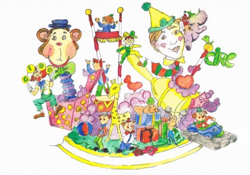 296 Boceto infantil - El Circo - Vicente Santiago Biot