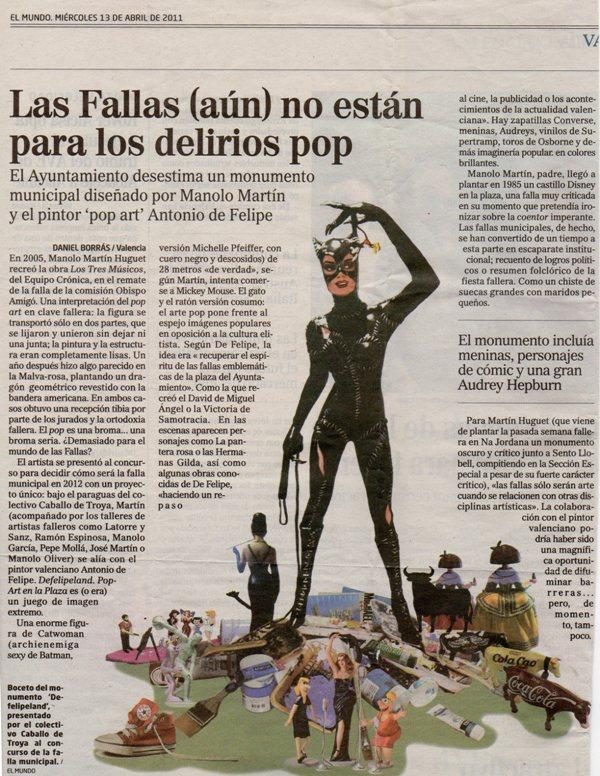 Boceto Antonio de Felipe Falla Ayuntamiento 2012