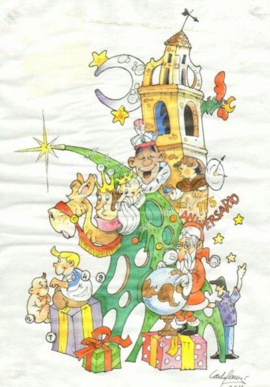 Boceto Hoguera Oficial infantil 2011