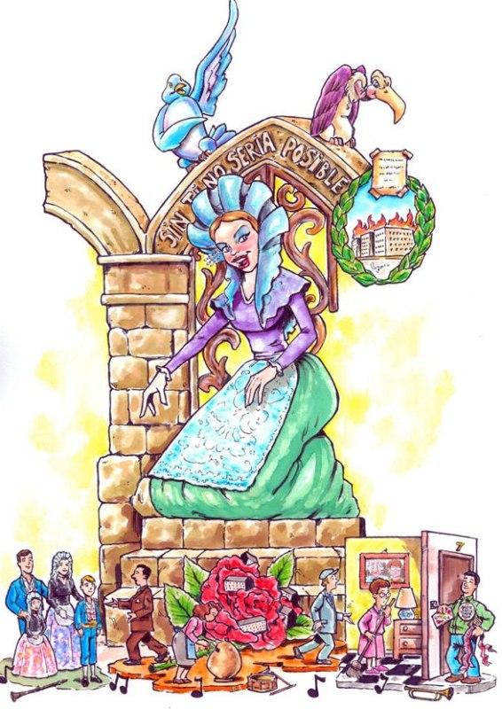Boceto Falla Las 300 de Elda 2011