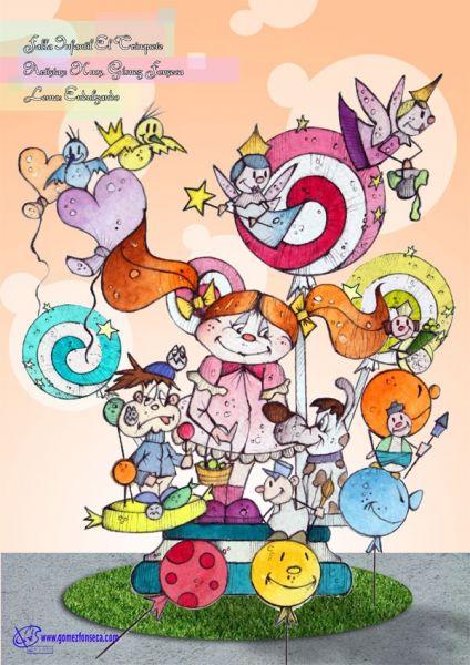 Boceto Falla infantil Trinquete 2011