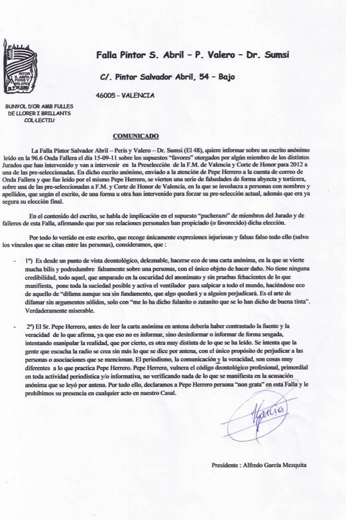 COMUNICADO_FALLA_EL_QUARANTAHUIT