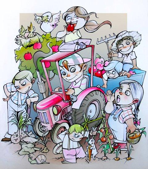 Boceto Falla infantil Mercado Central 2012