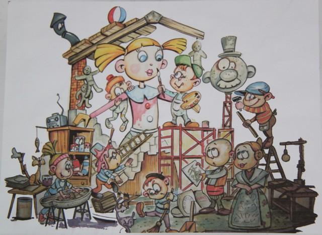 Boceto Falla infantil Plaza de la Tienda 2012