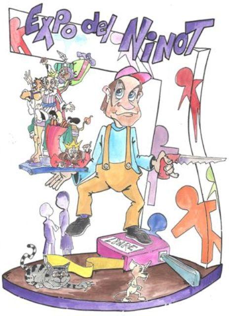 Boceto Falla Parotet infantil 2012