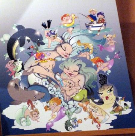 Boceto Falla infantil Ramiro de Maeztu Leones 2012