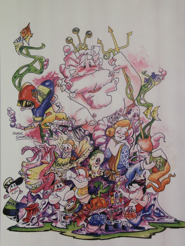 Boceto Falla infantil Espartero 2012