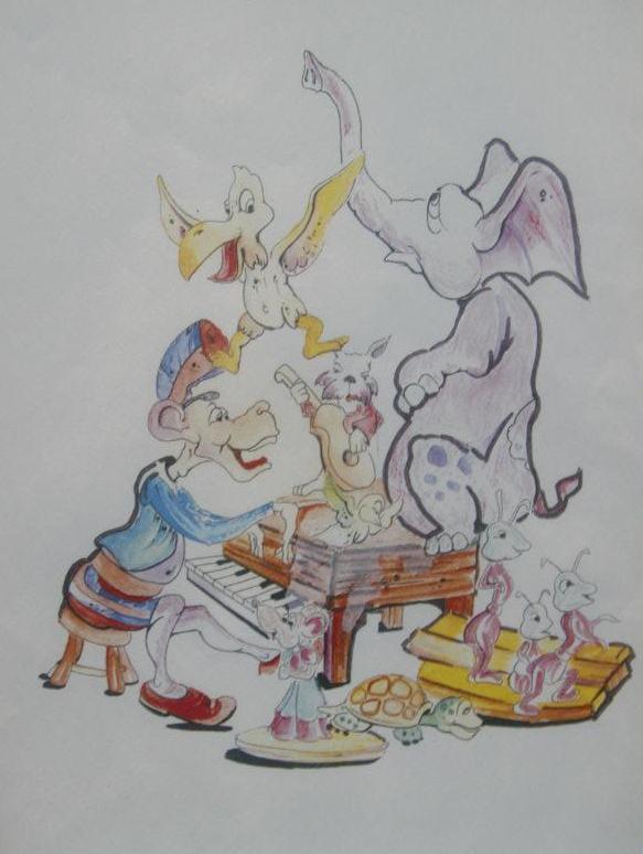 Boceto Falla infantil Fray J Rodriguez