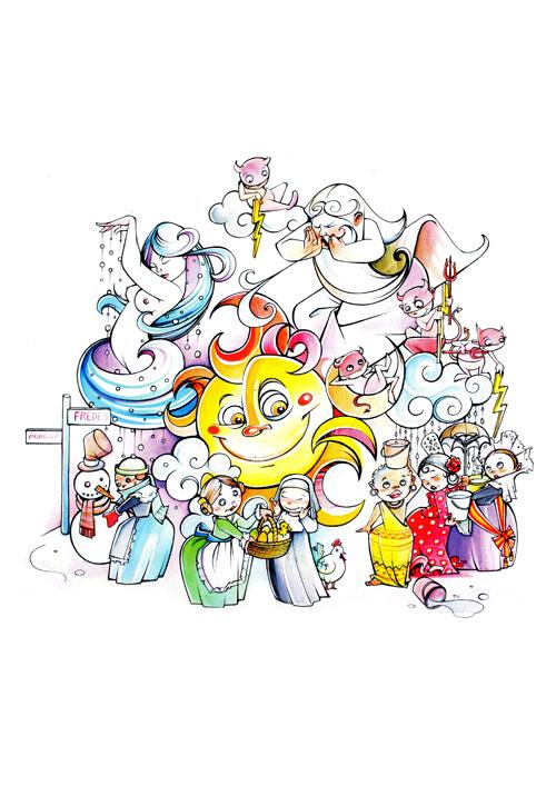 Boceto Falla infantil Los Centelles 2012