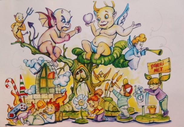 Boceto Falla infantil Primado Reig Vinaroz 2012