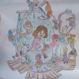 boceto falla infantil olta 2017