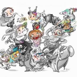 boceto falla infantil Azcarraga 2017
