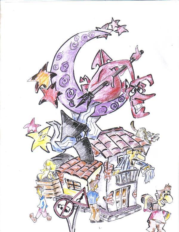 Boceto Falla gran (art. Alfredo Bayona)